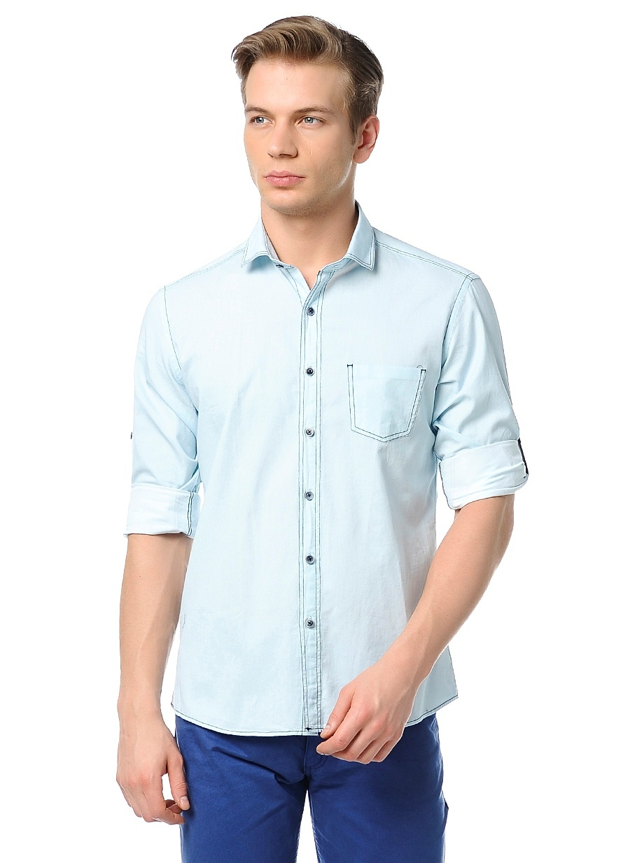 wessi uzun kollu slim fit gömlek